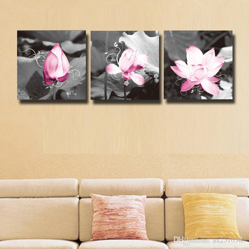 2018 Impression Lotus Canvas Print Painting For Living Room Wall Art ...