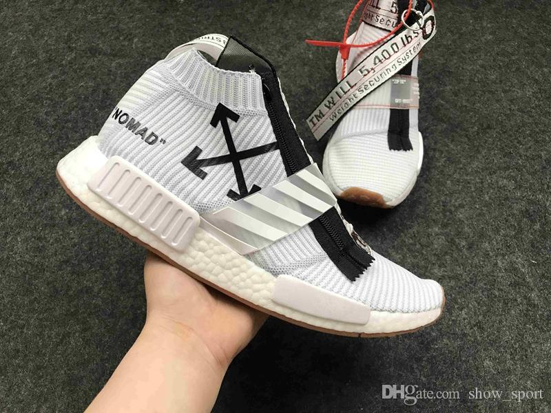 61d0a771a545e 2017 New Released Off White X Nmd City Sock Mid Running Shoes Urbanvirgil  Abloh Real Boost ...
