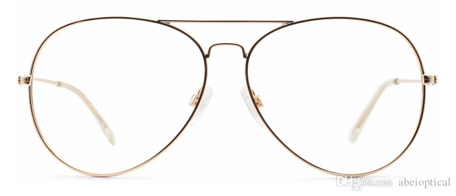 Aviator Oversize Metal Lightweight Full Frames Model 0179,Golden ...