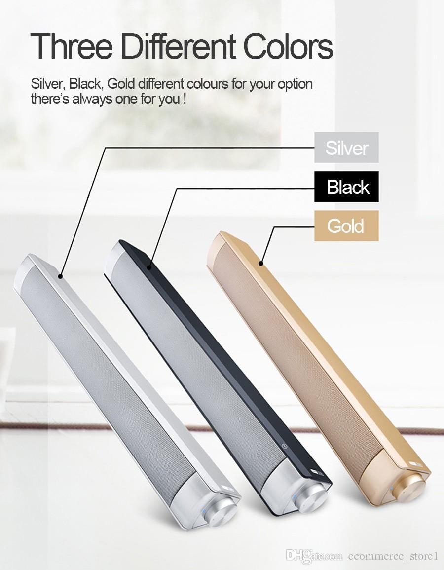 10W LP08 Bluetooth Sans Fil Haut-Parleur Soundbars Parleur Mains Libres Boîte HIFI Subwoofers Boombox Stéréo Portable barre de son pour TV PC ordinateur portable