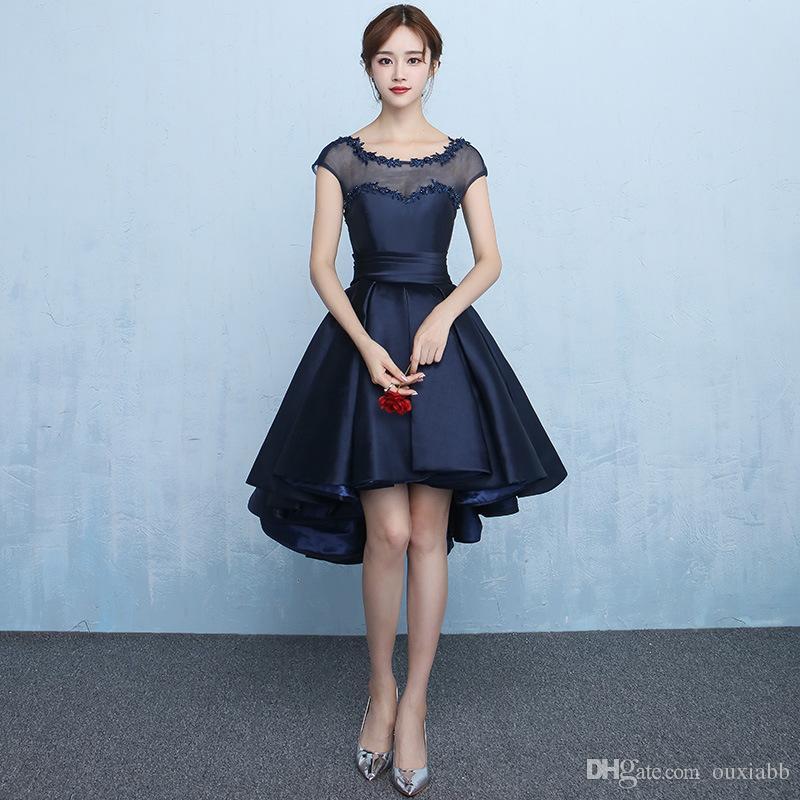 Vestidos de gala azul cortos