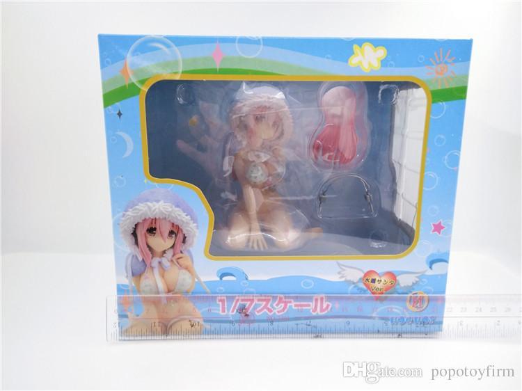 POPOToyFirm Bikini da bagno estivo di Natale Super Sonico Bikini molto sexy in PVC Anime Figure Sexy Girl Action Figure Collection Giocattolo adulti