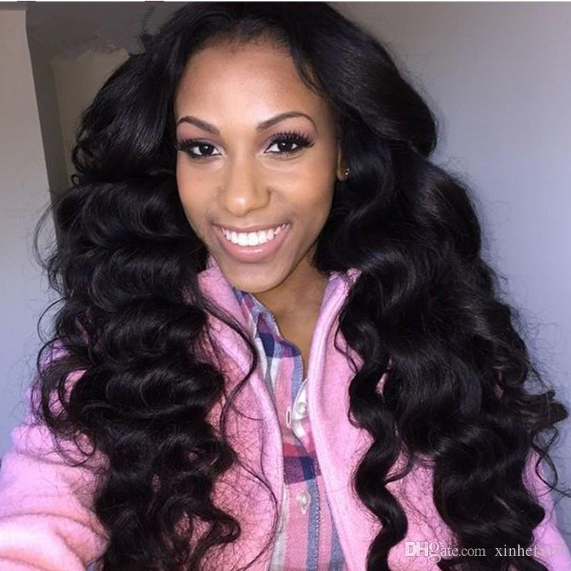 Malaysian Lace wigs In Stock Natural Deep Body Wave Lace Front Wigs with Baby Hair Front Lace Wigs for Women