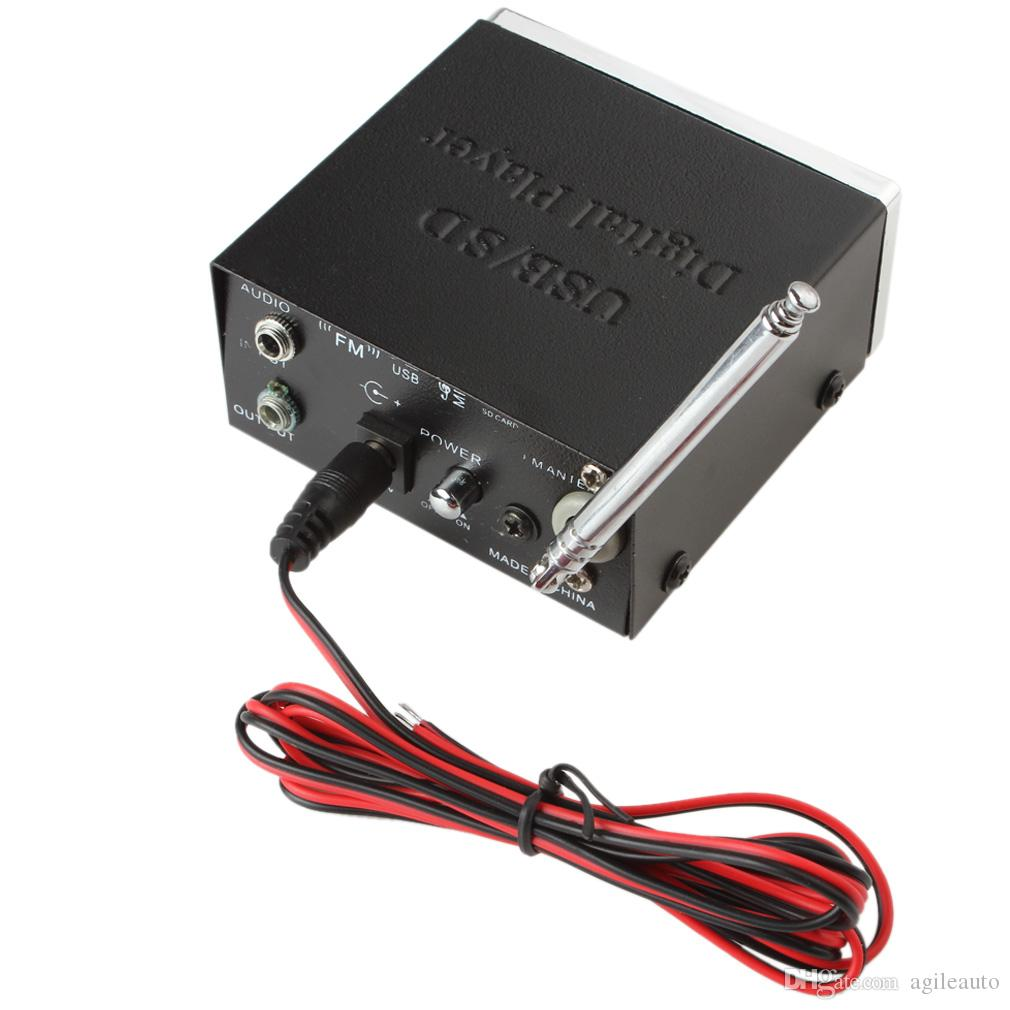Black Color Power Car Amplifier MP3 Player Reader 4-Electronic Keypad Support USB SD MMC Card with Remote CEC_805
