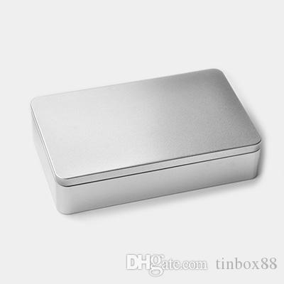 215x135x48 Mm High Quality Rectangle Large Silver Tin Box Sealing Metal Storage  Box Candy Case Tin Box Storage Box Tea Box Online With $59.43/Piece On ...