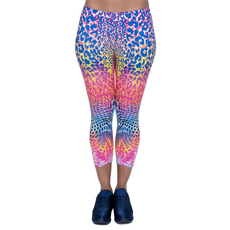 4dc3f1c5c5c41 2019 Girl Capri Leggings Colored Spots 3D Graphic Print Women Casual Capri  Pants Lady Cropped Trousers Colorful Pattern Seven Socks New J45780 From ...