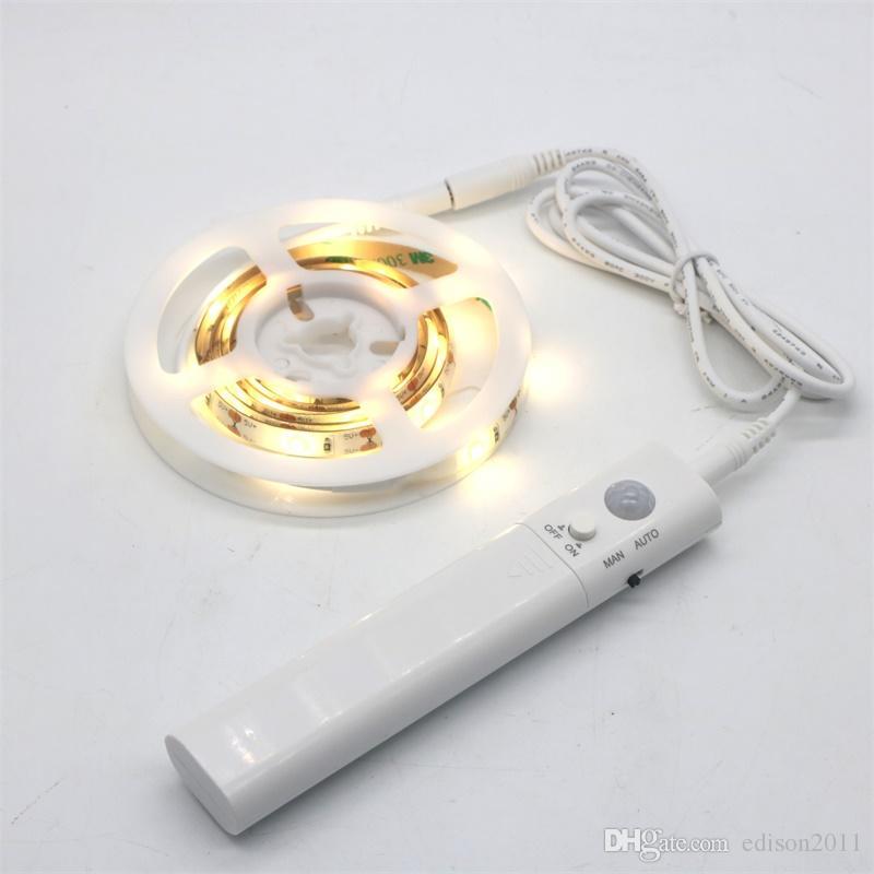 Edison2011 Pir 모션 센서 LED 야간 조명 침대 빛 2835 SMD LED 스트립 60LEDS / M LED 스트립 유연한 빛 다기능 침대 램프