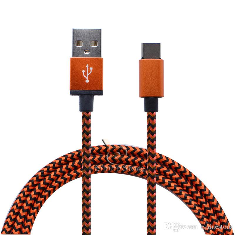 Geflochtene Kabel TYPE C 3.1 USB-Ladekabel Data Sync Quick Charger Lead-Adapter für Samsung Galaxy S8 S8 Plus + C9