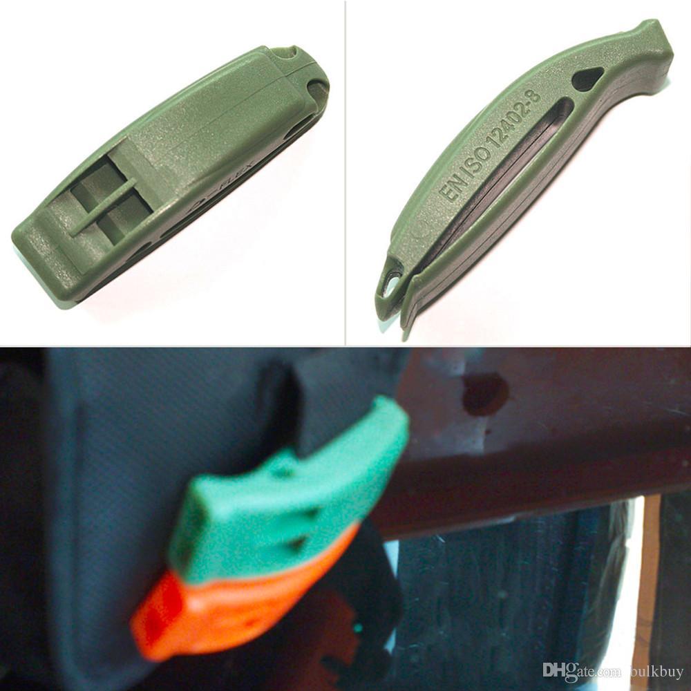 Portátil Outdoor Survival Resgate de Emergência Plastic Whistle Com Clipe