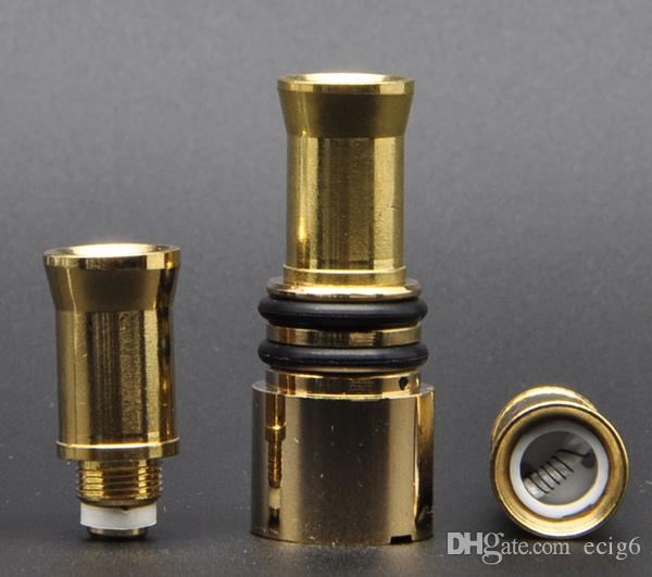 Gold Glass Globe Wax Vaporizer Coil for replacement glass globe Wax tank Flat Pen Vapor wax Atomizer core