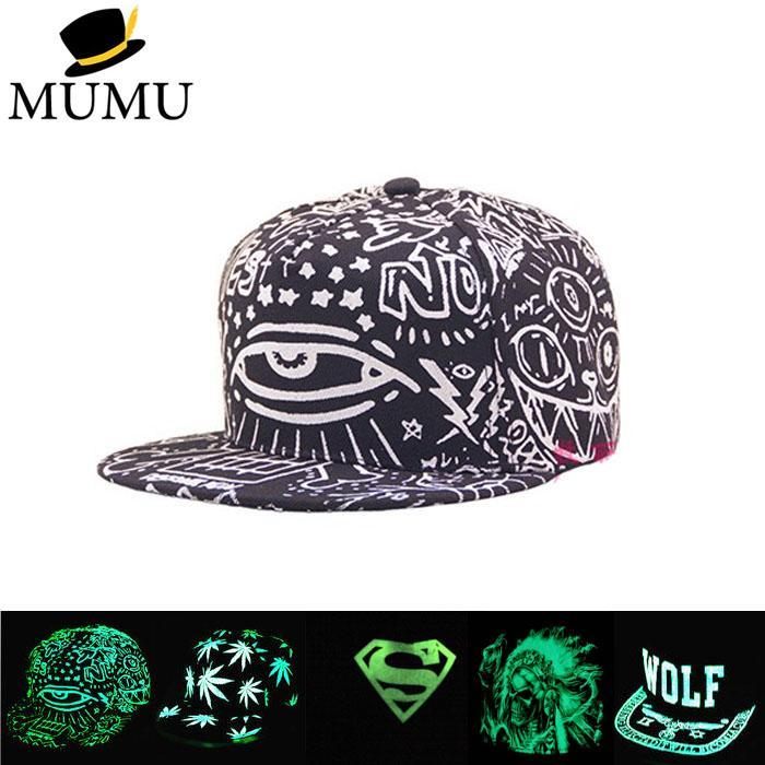 2d432521f0359 Multi Style Women Men Fluorescence Hip Hop Polo Hats Luminous Gorras Sport Baseball  Caps Casquette Superman Light Snapback Hat Wholesale Hats Caps Online ...