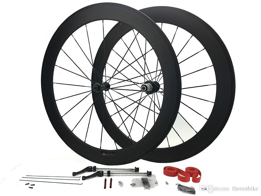 speedcarbon full carbon fiber wheels 50mm clincher 700C with aluminum brake