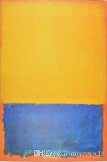 2018 High Quality Untitled Yellow Blue On OrangePure Hand Painted Mark Rothko Modern Abstract Wall Art Oil Painting On Canvas.  sc 1 st  DHgate.com & 2018 High Quality Untitled Yellow Blue On OrangePure Hand Painted ...
