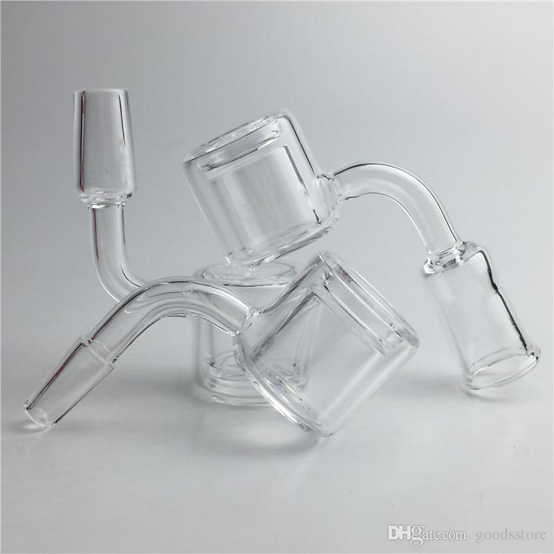 Double Walls Quartz Banger with XL XXL Honey Bucket 10mm 14mm Male Female Clear Joint Thick Quartz Domeless Nail for Water Pipes