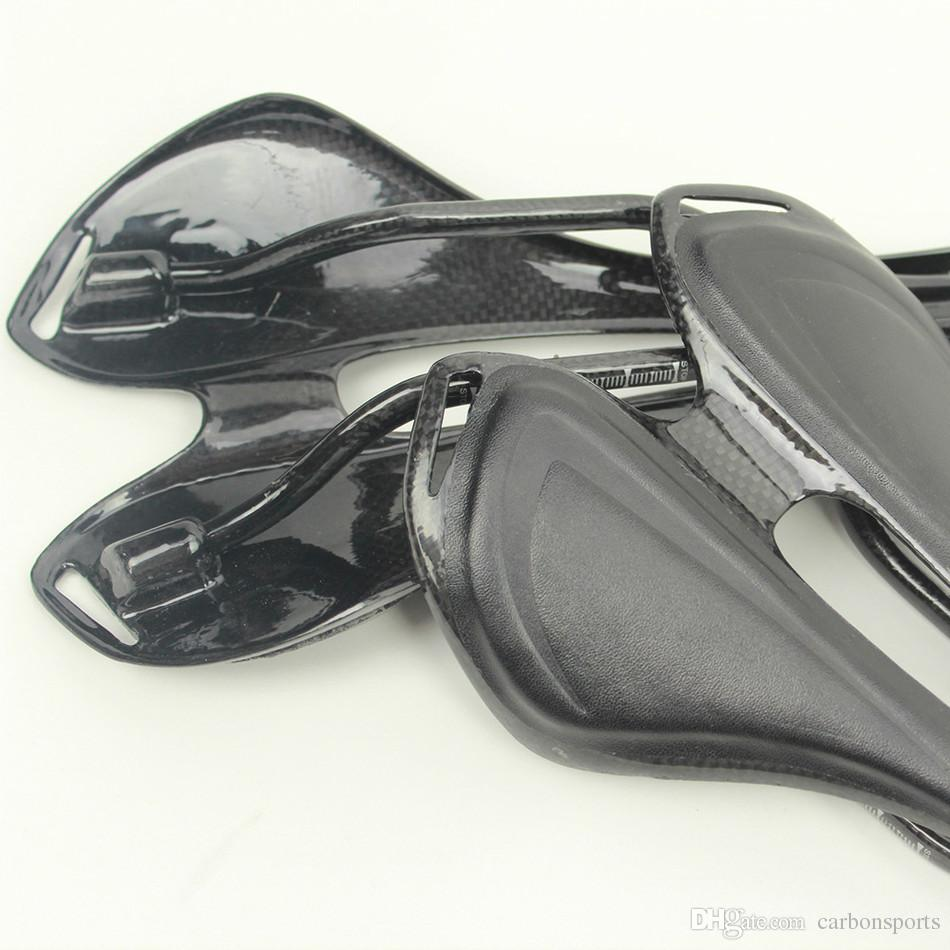 carbon bike carbon bicycle saddle with imitation leather outside comforbtale bike saddle