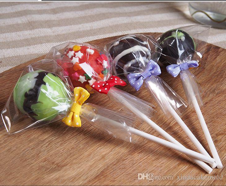 Şeffaf Plastik Lolipop Şeker Çanta Küçük Gıda Sınıf Opp Paket Kılıfı Kek Çikolata Pişirme Paketi 6 * 10 cm 500 adet / grup