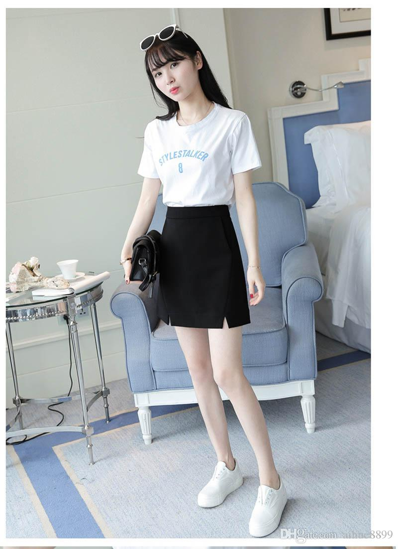 Plus Size Midi Skirt Women 2017 Fashion OL Office Pencil Skirt Women's Jupe New Arrival Slit High Waist Skirt Black