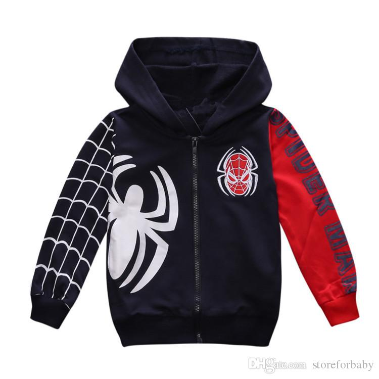 2017 new arrive spiderman boy jacket hooded boys coats cotton boy baby clothing child suits hot seller spring autumn fashion from china