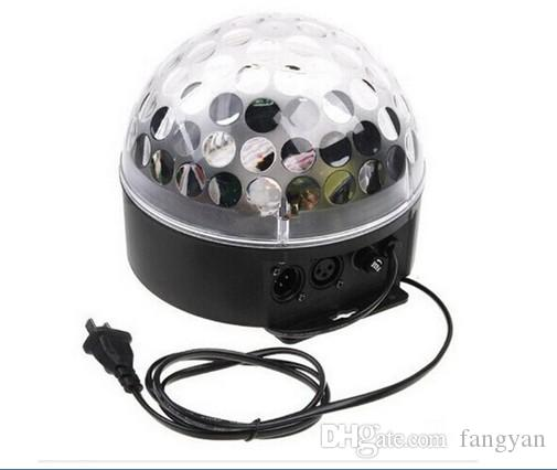 9 Cor de Controle de Voz de Cristal LED Bola Mágica Mudança de Luz Efeitos de Iluminação de Palco Luzes de Discoteca Para DJ Bar Party Supplies