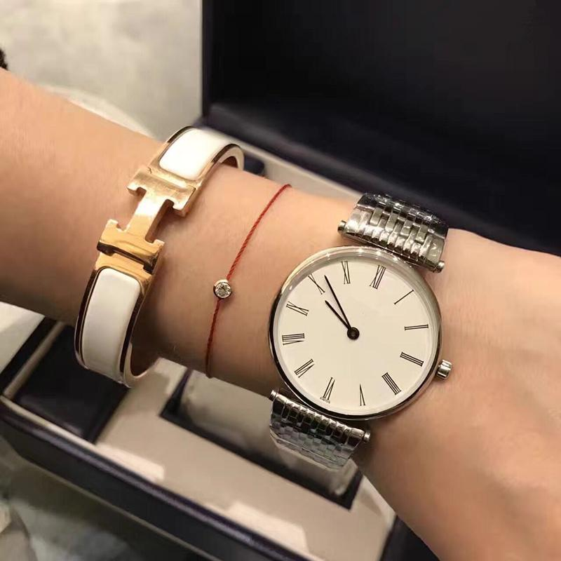 Ginevra Brand Zapphire Women Guarda argento / oro Band in acciaio inossidabile Elegante Lady Business Quartz Wristwatch Fashion Semplice Ultrathin Orologi