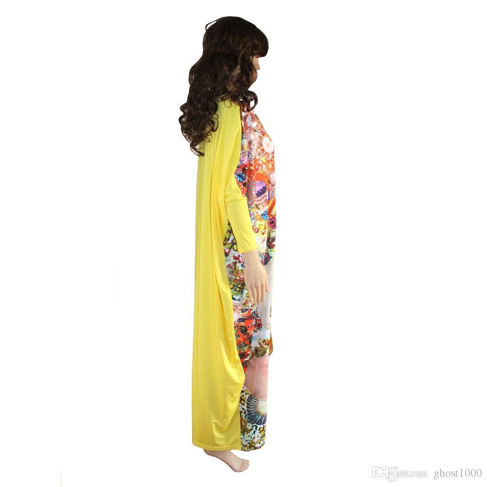 2017 Fashion African Dashiki New Design femmes vestidos Bazin Elastic Party PLus Size vie riche Diamond Pattern Loose Dress
