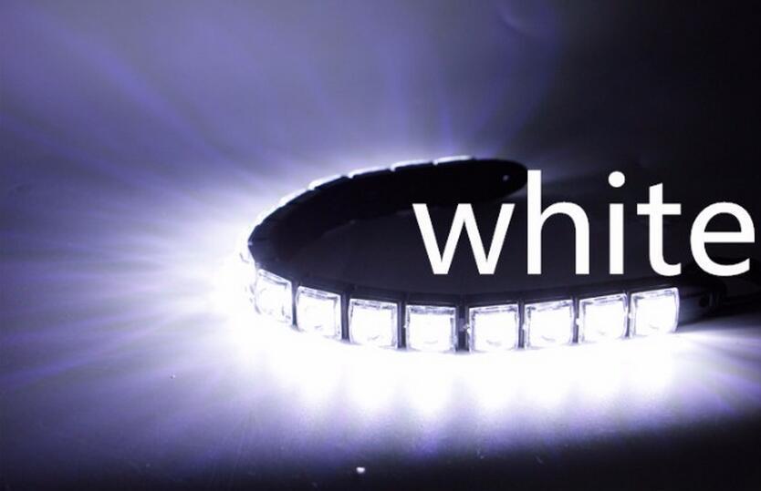 Style de voiture super poudre Voiture Auto Décoratif Flexible Bande LED Haute Puissance 12V CarLED Feux de Jour Lumière De Voiture LED Bande Lumière DRL