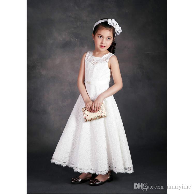 Лето дети девушки кружева платья девочка принцесса свадебное платье дети корейский платье 2017 детская одежда