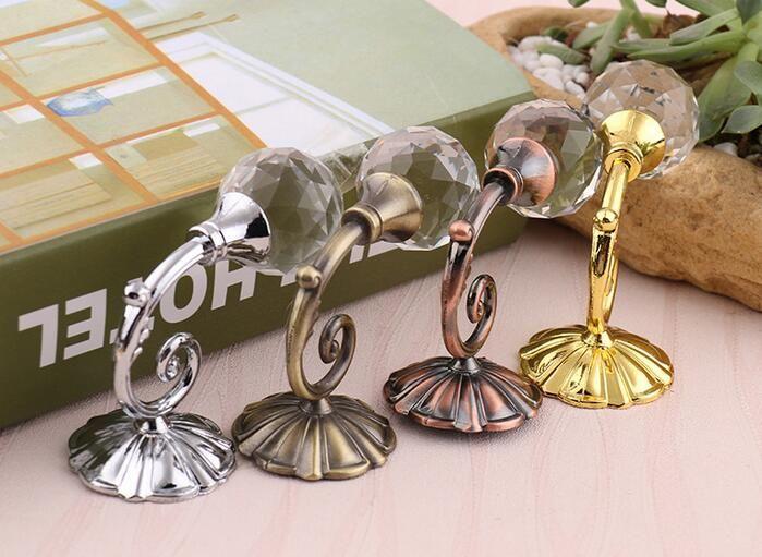 Ganci tende a sfera in metallo di grandi dimensioni di cristallo di grandi dimensioni Ganci tende a parete con gancio a sfera e gancio appendere la tenda Tende i