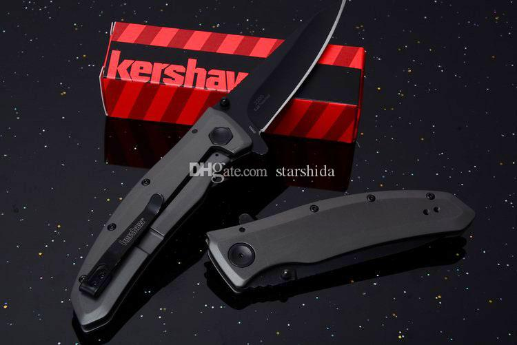"""2018 Kershaw 2200 Grid Assisted Tactical Folding Knife 3.7"""" Outdoor Camping Hunting Survival Pocket Knife Military Utility Clip EDC Tool"""