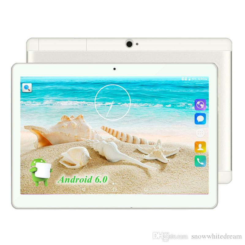 "2017 New Android 6.0 Tablets PC Tab Pad 10 Inch IPS 1280x800 Quad Core 1GB RAM 16GB ROM Dual SIM Card 3G Phone Call 10"" Phablet"