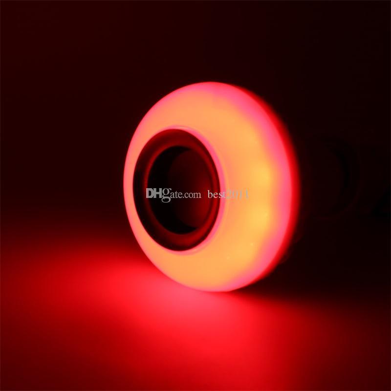 E27 LED Bulbs Wireless Bluetooth 6W LED Speaker Bulb RGBW Music Playing Lighting With 24 Keys IR Remote Control