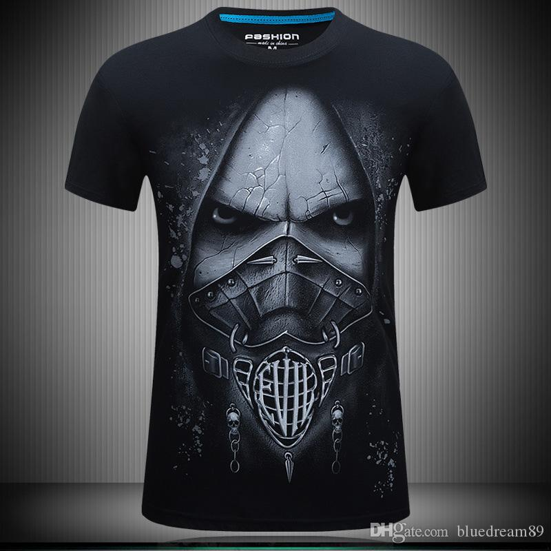 Summer Mens T Shirts 3d Death Skeleton Designer T Shirt