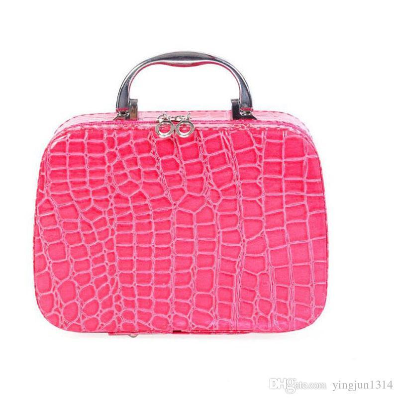 Scatole di trucco di moda Pacchetto di ammissione sacchetto cosmetico Casi di gioielli Casella di immagazzinaggio di collana Cosmetici coreani borsa borse viaggio treno casi