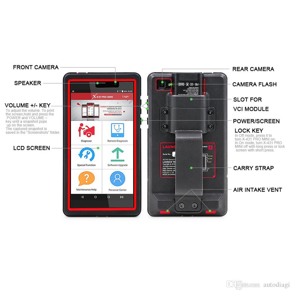 Original launch scanner X431 Pro mini Diagnosis Scan Tool Better Than X431 idiag easydiag launch x431 diagun Automotive Scanner