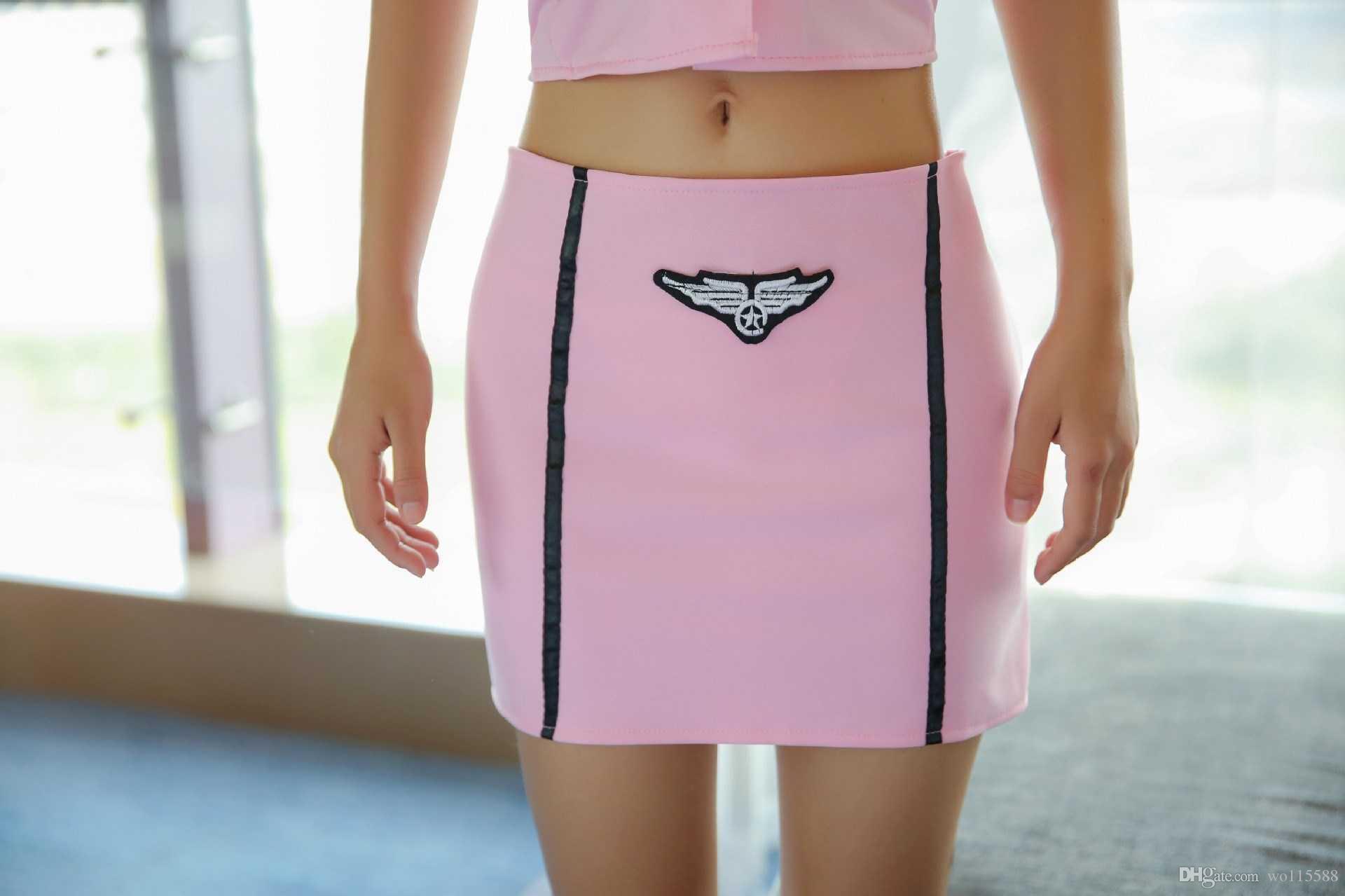 Frete Grátis Nova sexy lingerie estudante empregada aeromoça uniforme tentação enfermeira paixão terno personagem jogar sexy sexy interior vestido feminino