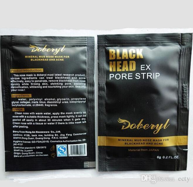 2017 Doberyl Black Head Mask Face Care Facial Blackhead Remover Nose Acne Treatments Deep Cleansing Mineral Mud EX Pore Cleaner