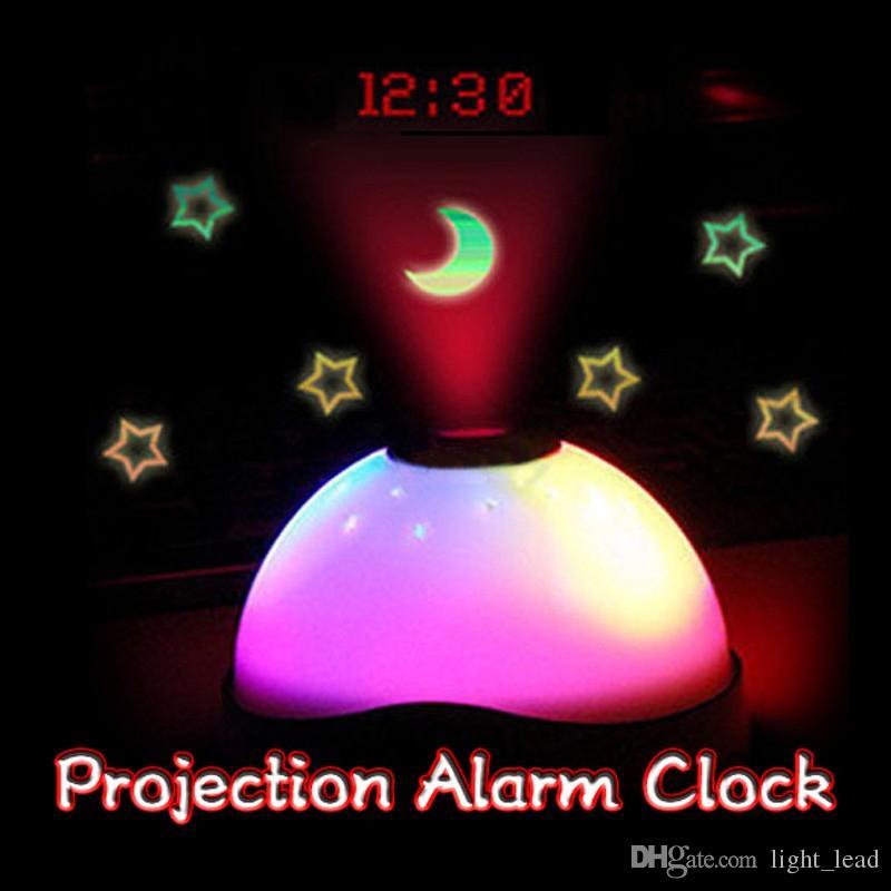 changing Starry Digital Clock Magic LED Projection Alarm Clock Night Light Home Decor Alarm Clocks Gift For Kids