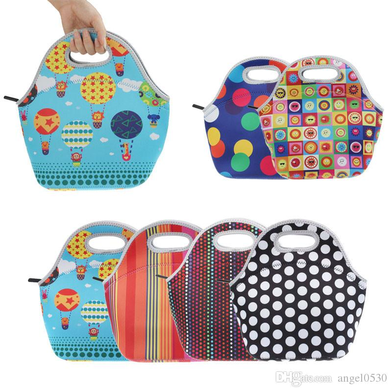 405cae03917f New Fashion Lunch Bag Thermo Thermal Insulated Neoprene Lunch Bag Women  Kids Lunchbags Tote Cooler Lunch Box Insulation Bag