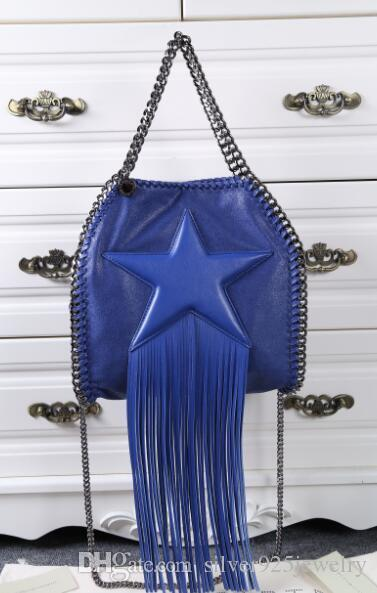 Size  25 X26 X10cm Tassel Falabella Tiny Tote Stella Nera Frange ... 91b8be12b7292