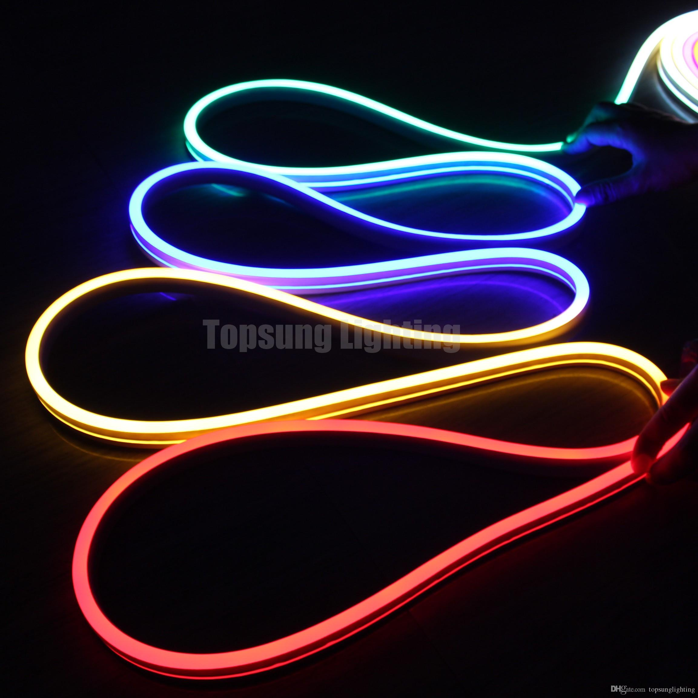 2018 hot sale 20m spool flexible strip flat ultra thin 24v led neon lighting rgb neon flex rope. Black Bedroom Furniture Sets. Home Design Ideas