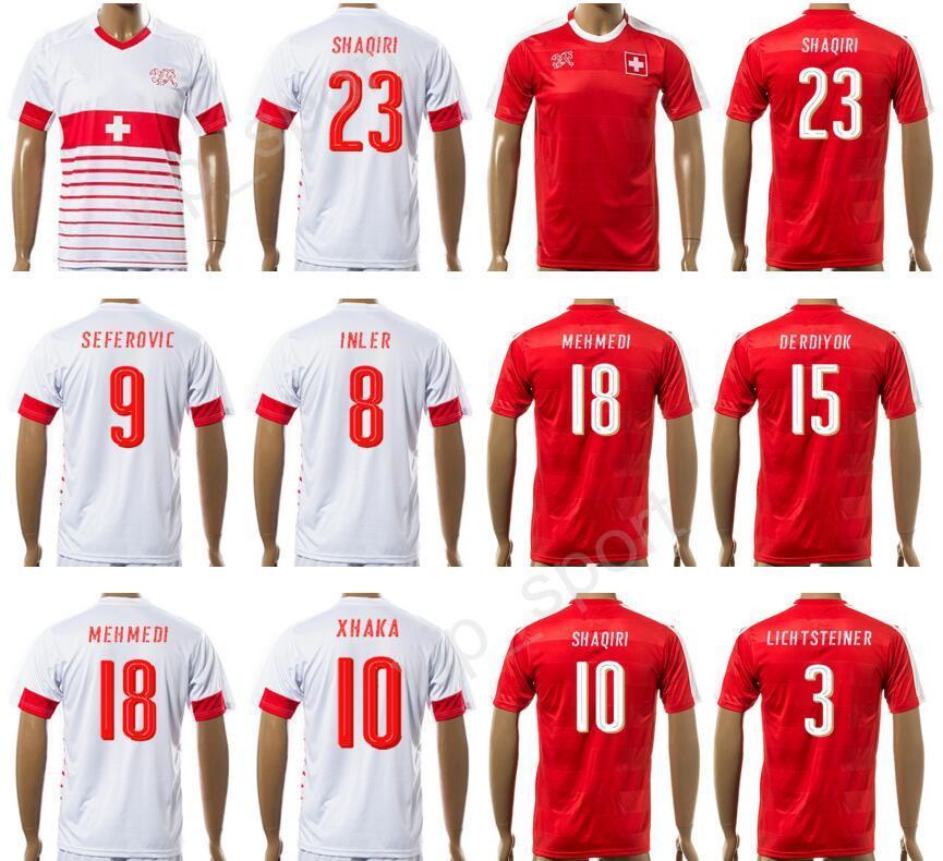 23 2017 Acquista Shaqiri Maglia Svizzera 2018 Custom Calcio Xherdan BedCoWrx