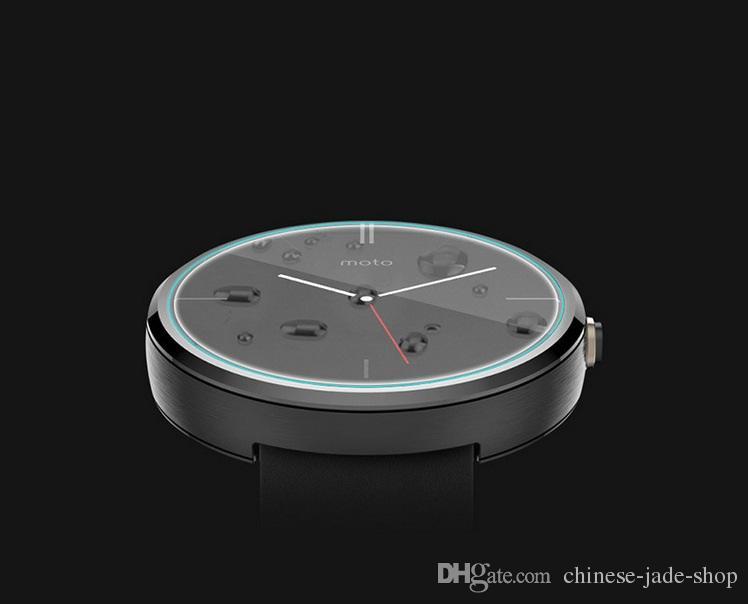 Vidro temperado 2.5D 9.0H Universal Round Watch D23 a D46 mm de diâmetro 23mm a 46mm / lote no pacote de varejo