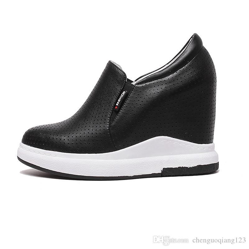 women wedge heel round toe black white comfortable soft Breathable casual shoes discount outlet locations low shipping for sale 3DaBNKaDj