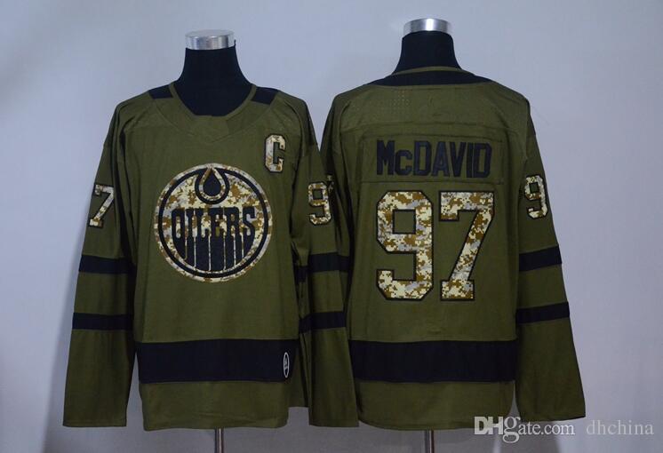 2019 New Edmonton Oilers Jerseys  97 Mcdavid Jersey 2017 New Hockey Jerseys  Olive Color Army Camo Size 48 56 All Jerseys From Dhchina 608840e1e