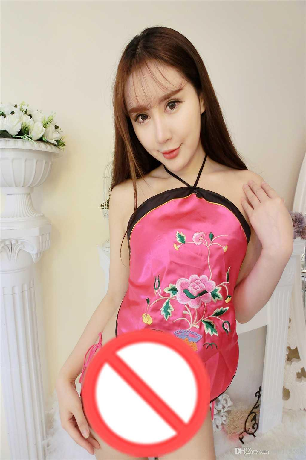 new sexy lingerie cosplay fun dumplings ladies sexy adult sets of national wind court embroidery underwear sling ancient pajam