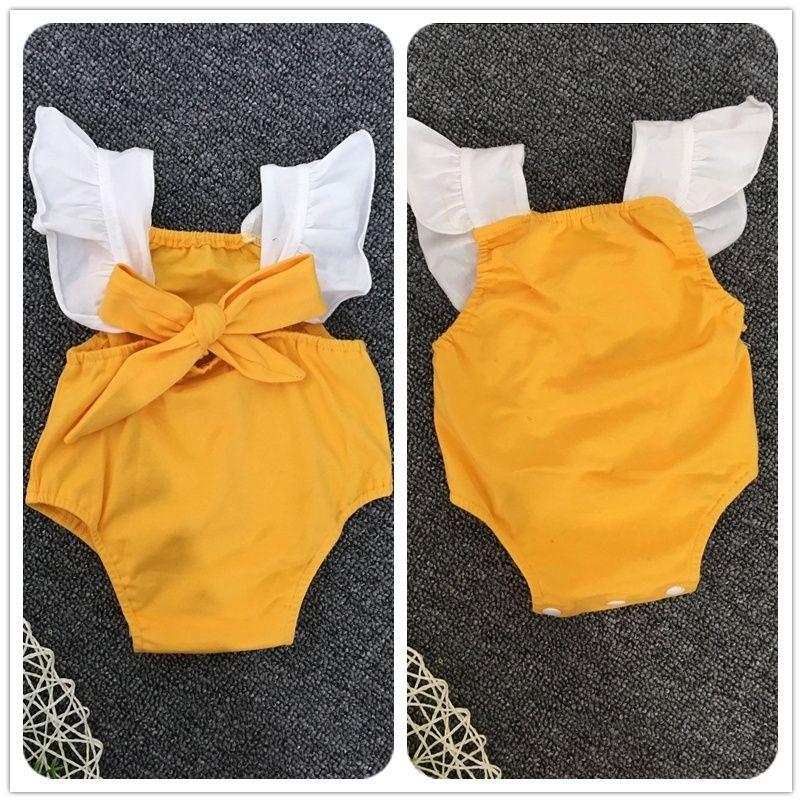 8416bc0e7 Acquista Fashion Baby Pagliaccetti Fiocco Infantile Bambina Onesies ...