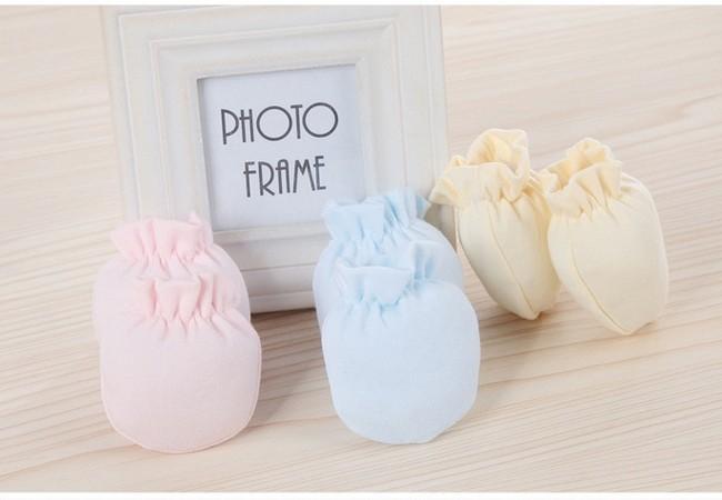Hot Sale 0-6 Months Fashion Baby Gloves Unisex Bebe Accessorise Cotton Boy Girl Safety Scratch Mittens Newborn Baby Mittens Accessories Gloves & Mittens