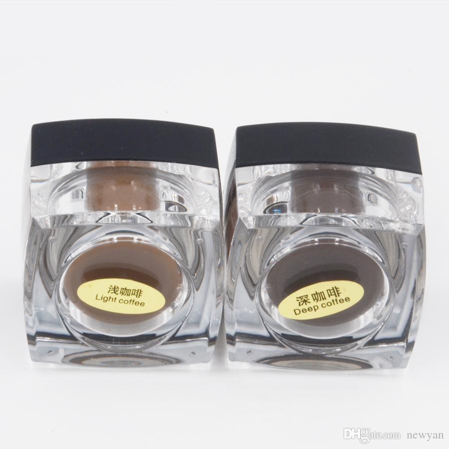 ماكياج دائم الحبر الأسود مربع زجاجة 10 جرام ل الحواجب وشم شبه دائمة ماكياج القلم ل أكواب الوشم مع الصباغ وجه الحاجب