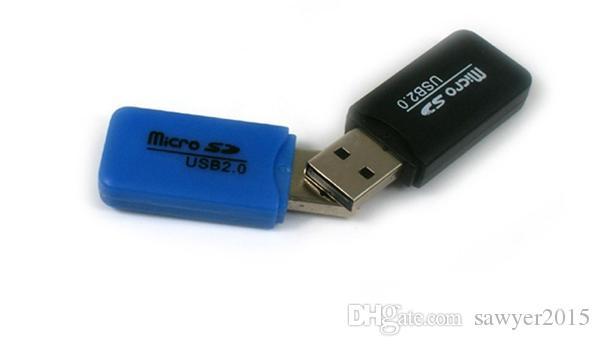 USB 2.0 lector de tarjetas Micro SD de memoria del teléfono lector de tarjetas lector de tarjetas TF móvil pequeñas al por mayor multiuso de alta velocidad