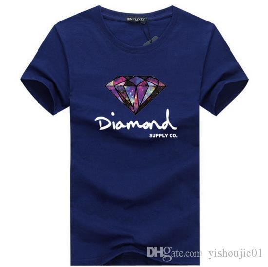 3D diamante uomo manica corta t shirt skateboard marchio di moda abbigliamento hip hop camisetas mens top streetwear tee shirt homme